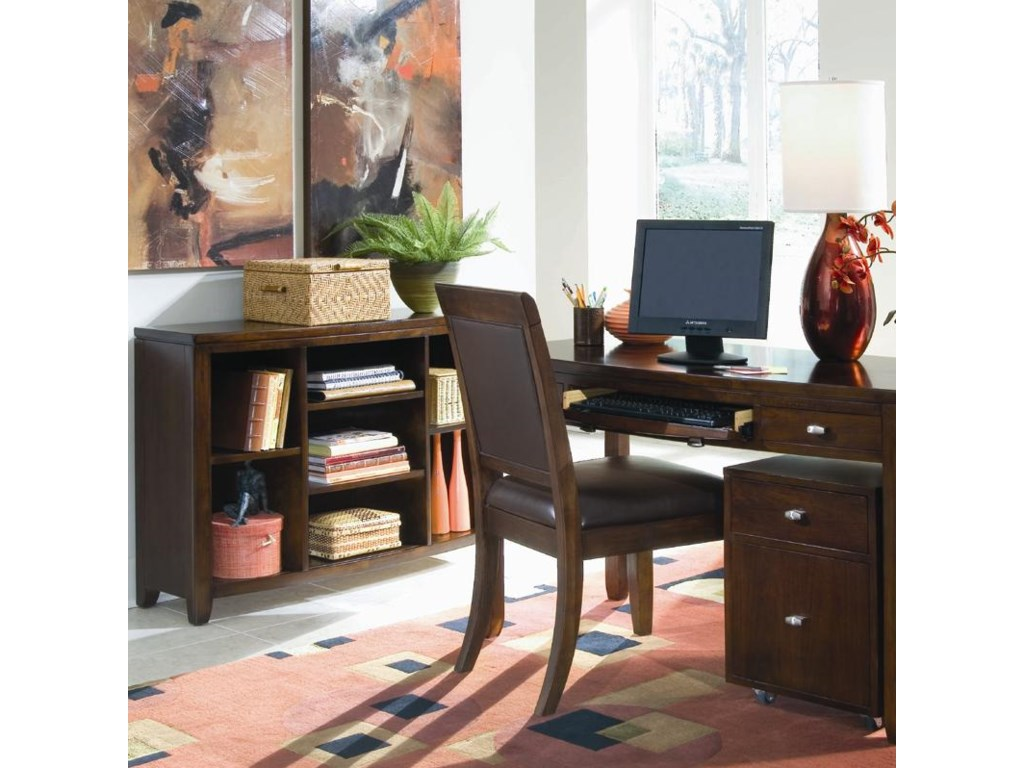 Shown with Leather Side Chair, File Caddy, and Desk