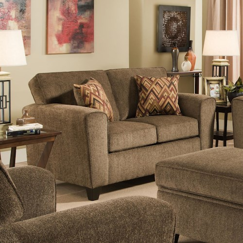Vendor 610 3100 Loveseat with Rounded Track Arms