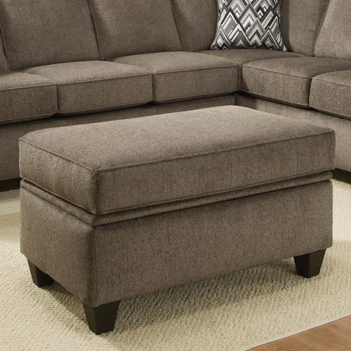 Vendor 610 3100 Ottoman with Tapered Block Feet