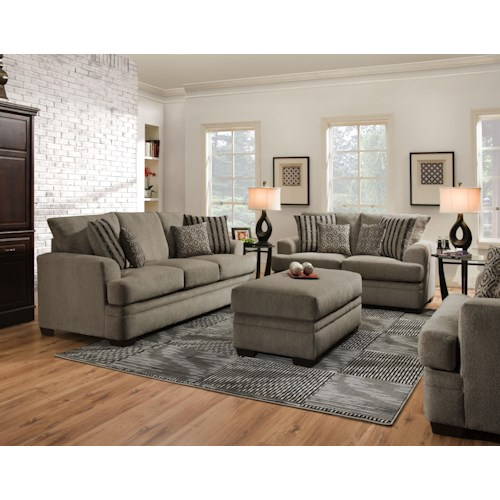 American Furniture 3650 Stationary Living Room Group Beck 39 S Furniture Upholstery Group