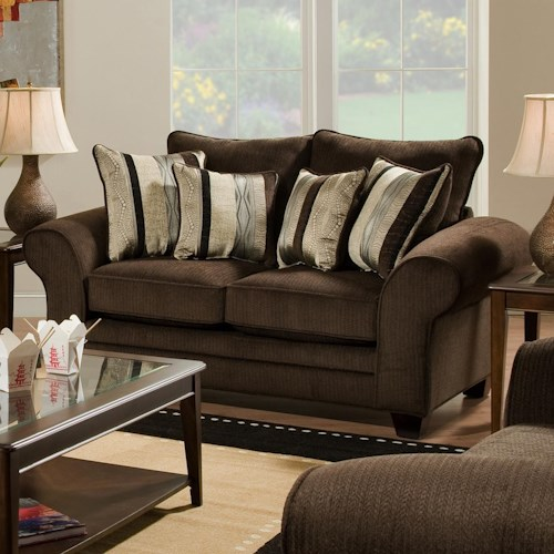 Vendor 610 3700 Casual Upholstered Love Seat