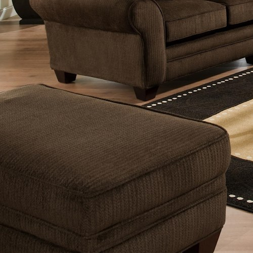 Vendor 610 3700 Upholstered Ottoman with Tapered Block Legs