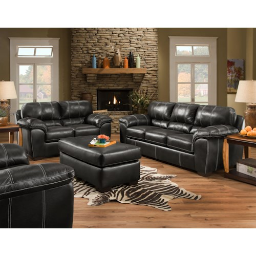 American Furniture 5450 Stationary Living Room Group Prime Brothers Furniture Upholstery