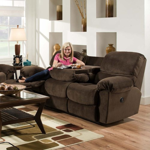 Vendor 610 AF310 Casual Power Reclining Sofa with Fold Down Center Table