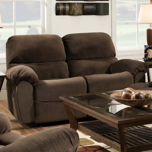 Vendor 610 AF310 Reclining Loveseat in Casual Family Room Style