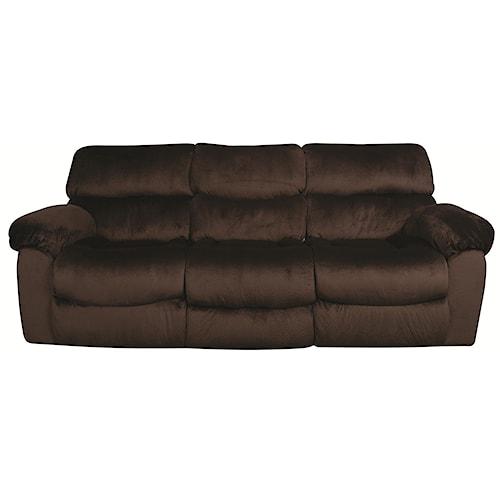 Morris Home Furnishings Dakota Recling Sofa with Drop Down Table