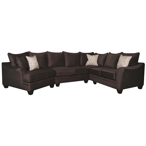 Morris Home Furnishings Rachel 3-Piece Sectional