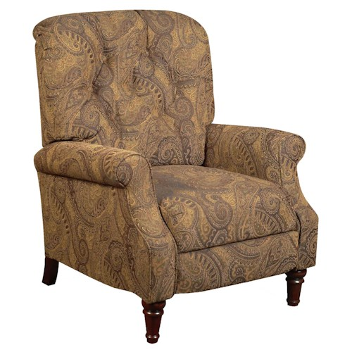 Vendor 610 Recliners  Cottage Styled Recliner with Tufted Seat Back