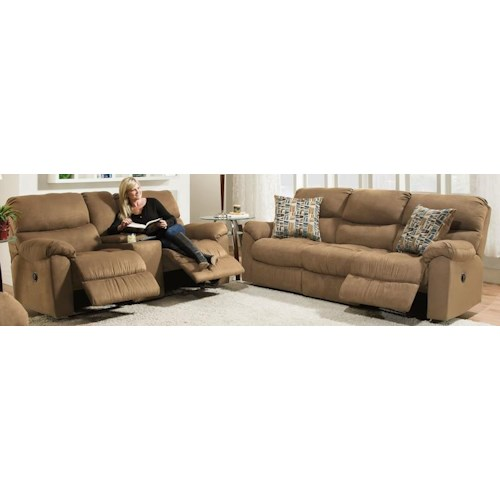 Morris Home Furnishings Thayer Reclining Sofa and Loveseat Package