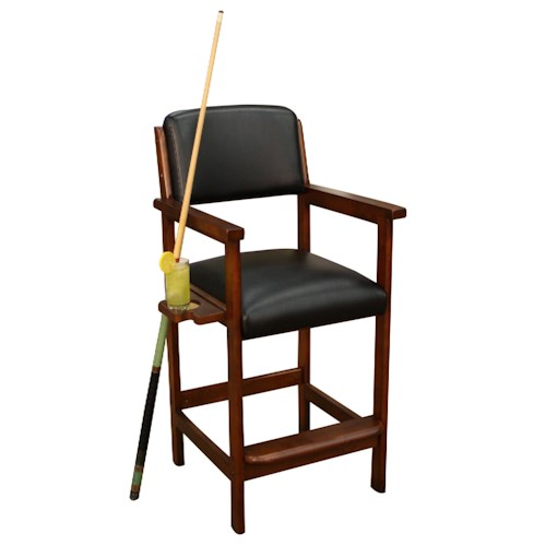 American Heritage Billiards Artero St. Paul Spectator Chair with Side Cup Holder