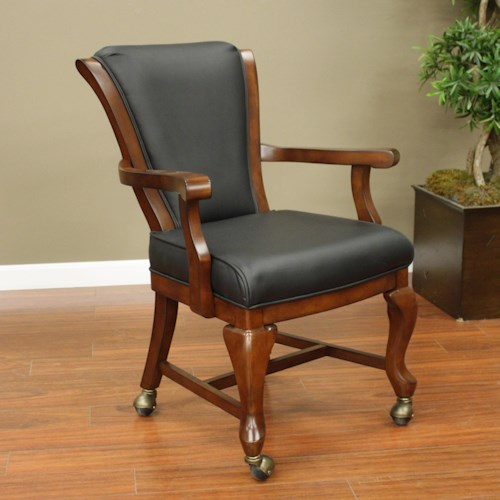 American Heritage Billiards Camden Clarissa Game Chair with Upholstered