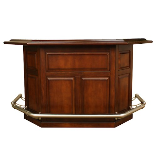 American Heritage Billiards Camden Augusta Bar with Wine Bottle Storage Rack and 2 Doors and Built-in Ice Bucket and 3 Shelves
