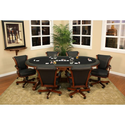 American Heritage Billiards High Stakes 7 Piece Game Table and Chair Set