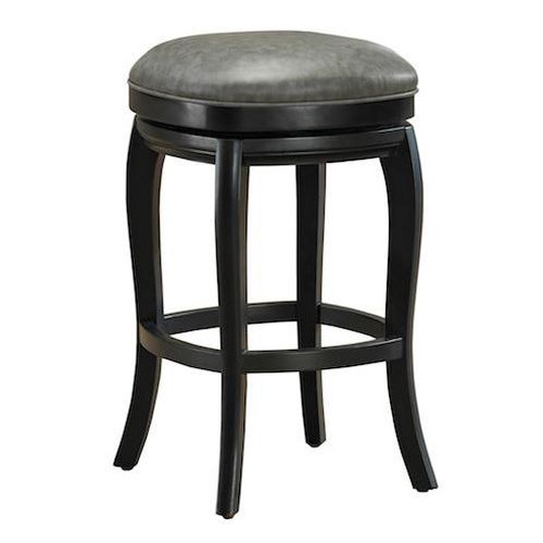 American Heritage Billiards Quest Madrid Stool with 360-Degree Swivel Seat and Adjustable Leg Levelers