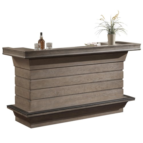 American Heritage Billiards Quest Caliente Bar with 2 Doors and 2 Drawers and Charcoal Bronze Accent Hardware