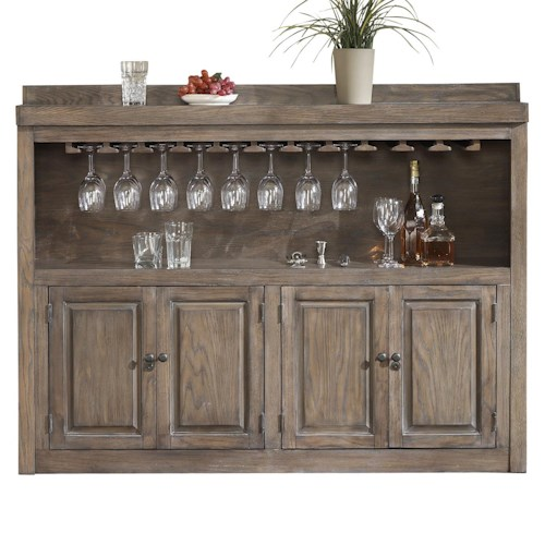 American Heritage Billiards Quest Martino Back Bar with Two-Tiered Shelf and Stemware Holders