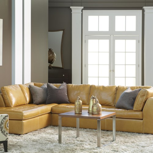 American Leather Astoria Casual Sectional with Right Arm Chaise