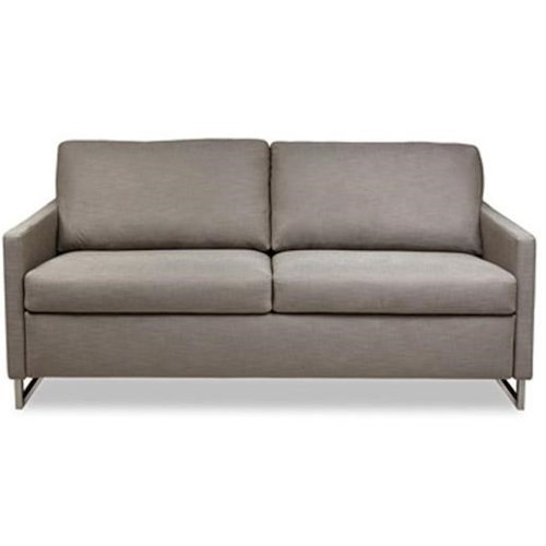 American Leather Breckin Contemporary Sofa with Brushed Stainless Steel Legs