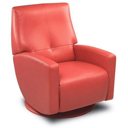 American Leather Cardinal Contemporary Styled Upholstered Recliner