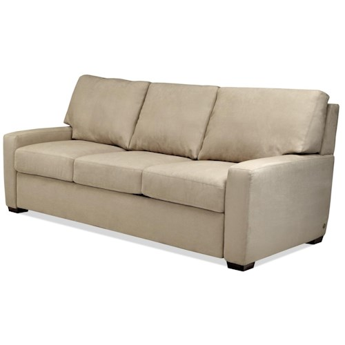American Leather Comfort Sleeper - Cassidy Casual Sofa with Track Arms