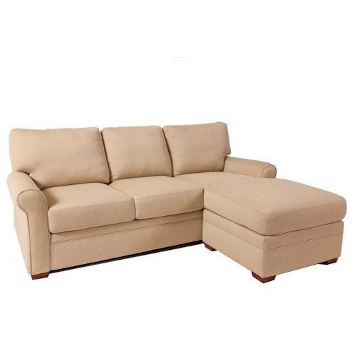 American Leather Comfort Sleeper - Gina Queen Gel Foam Sleeper with Chaise