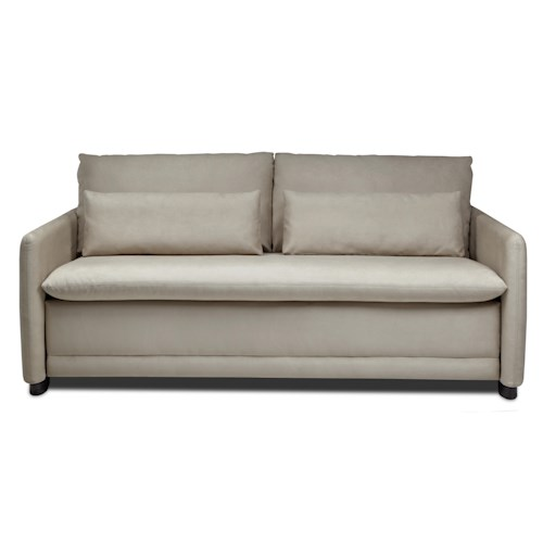American Leather Comfort Sleeper - Hailey Queen Plus Sofa Sleeper w/ Lumbar Pillows