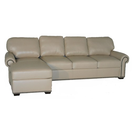 American Leather Comfort Sleeper - Makayla Traditional 2 Piece Sectional Sofa with Chaise