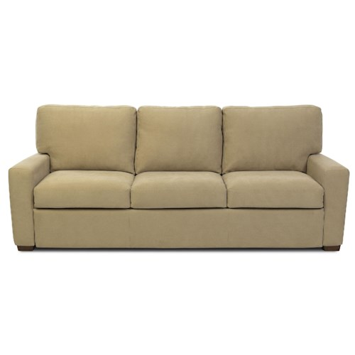 American Leather Comfort Sleeper - Oakleigh Casual Queen Plus Sofa Sleeper w/ Track Arms