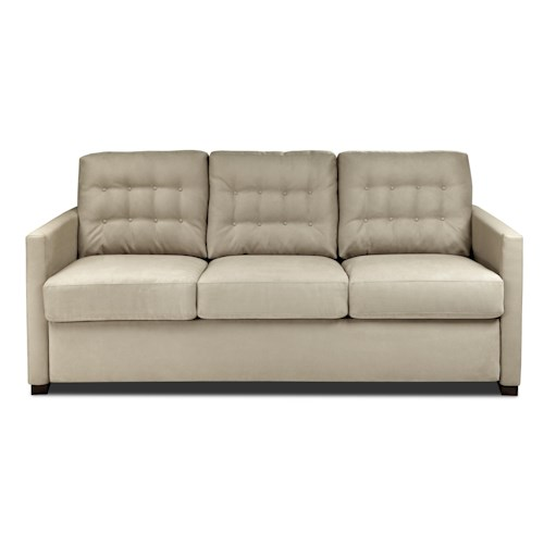 American Leather Comfort Sleeper - Payton Tufted Queen Plus Sofa Sleeper w/ Track Arms
