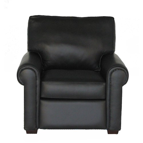 American Leather Comfort Sleeper - Reese Traditional Recliner with Rolled Arms