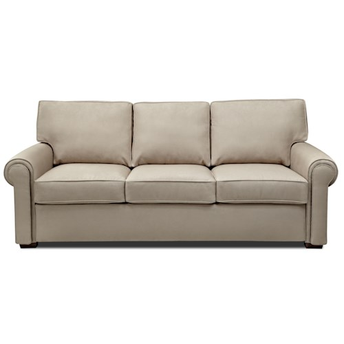 American Leather Comfort Sleeper - Reese Roll Arm Queen Plus Sofa Sleeper w/ Nailhead Trim