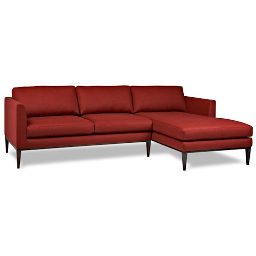 American Leather Henley Contemporary Sectional with Left Arm Chaise