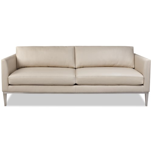 American Leather Henley Contemporary Sofa with High Leg Base