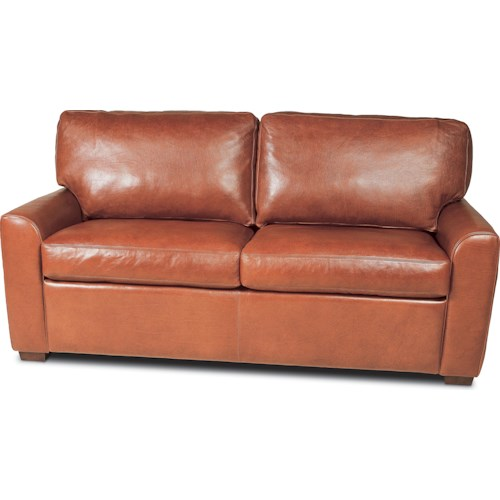 American Leather Kaden Casual Loveseat with Rolled Arms