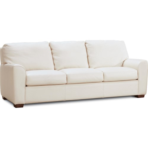 American Leather Kaden Casual Sofa with Loose Pillows and Cushions