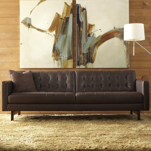 American Leather Parker Casual Sofa with Buttonless Tufted Seat Back