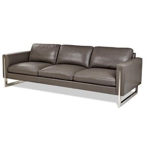 American Leather Savino Contemporary Sofa with Metal Legs