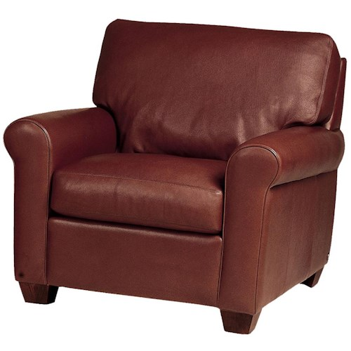 American Leather Savoy Contemporary Upholstered Chair