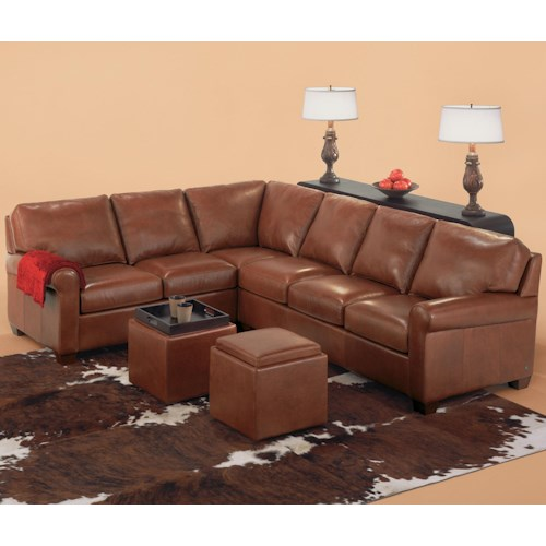 American Leather Savoy Contemporary 3 Piece Sectiona