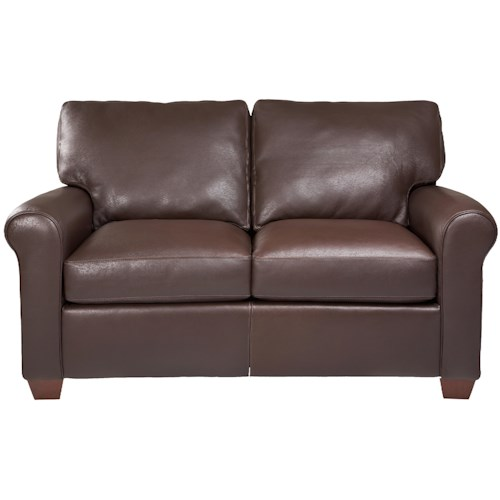 American Leather Savoy Contemporary Stationary Loveseat