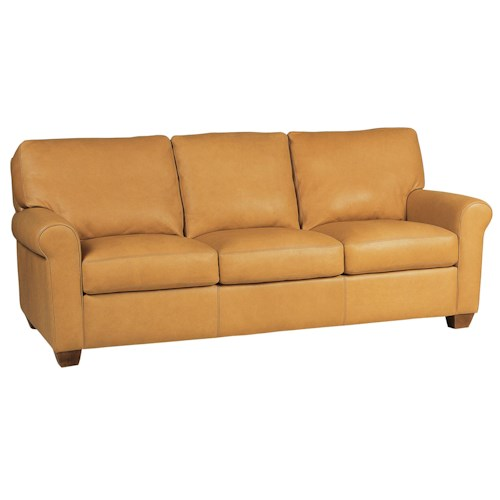 American Leather Savoy Contemporary Stationary Sofa