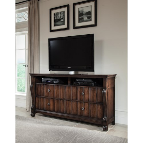 American Woodcrafters AMW Specials High Society TV Stand