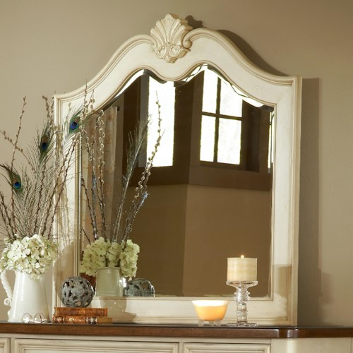 American Woodcrafters Chateau Landscape Mirror