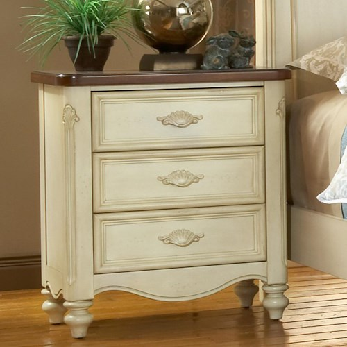 American Woodcrafters Chateau Three Drawer Nightstand