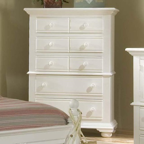 American Woodcrafters Cottage Traditions Wooden 5 Drawer Chest