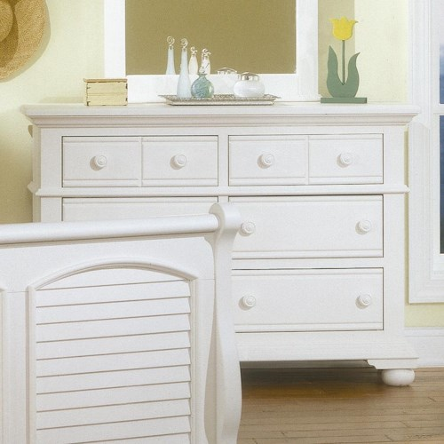 American Woodcrafters Cottage Traditions Youth Wooden Double Dresser