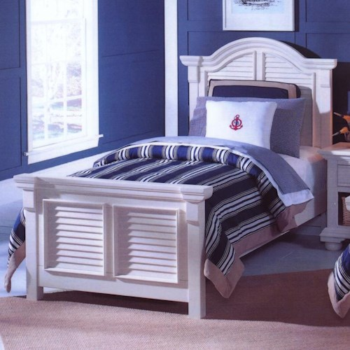American Woodcrafters Cottage Traditions Twin Panel Bed