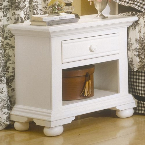 American Woodcrafters Cottage Traditions Youth Bedroom Nightstand with Drawer