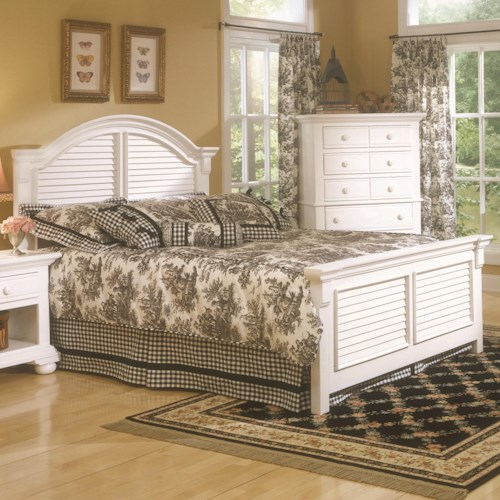American Woodcrafters Cottage Traditions Full Panel Bed