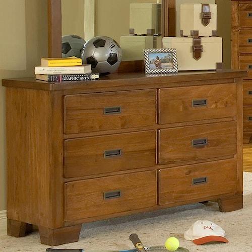 American Woodcrafters Heartland  Dresser w/ 6 Drawers